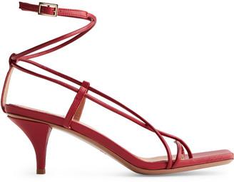 Arket Mid-Heel Leather Strap Sandal