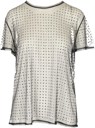 N°21 N21 Layered Rhinestone Embellished T-Shirt