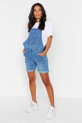 boohoo Maternity Overall Shorts