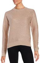 Ivanka Trump Metallic Crewneck Sweater