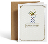 Marks and Spencer Traditional Flowers Birthday Card