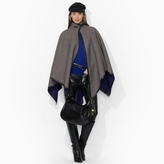 Ralph Lauren Houndstooth Wool Cape