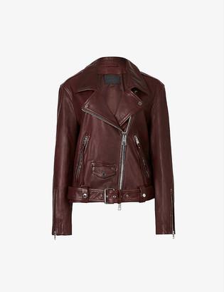 AllSaints Luna leather biker jacket