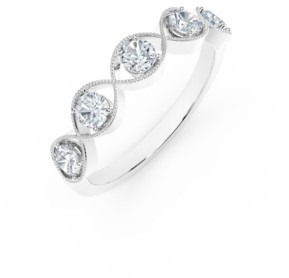 Forevermark Tribute Collection Diamond (1/2 ct. t.w.) Ring with Mill-Grain in 18k Yellow, White and Rose Gold