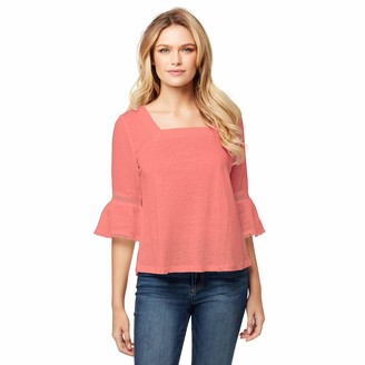 Jessica Simpson Women's Milly Lace Trim Peasant Top