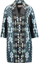 Peter Pilotto Dice printed silk-satin twill coat