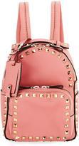 Valentino Rockstud Medium Leather Backpack, Light Orange