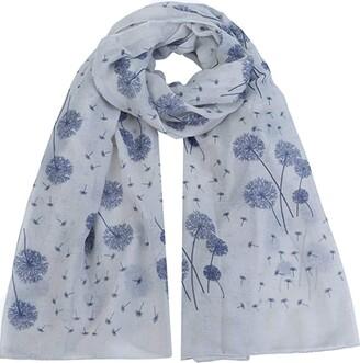 World Of Shawls Dandelion Celebrity Designer Scarf Womens Scarf Shawl Wrap Ladies Long Scarf (Light Blue)