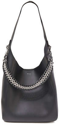 DKNY Bethune Chain-trimmed Leather Tote