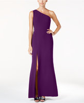 Calvin Klein One-Shoulder A-Line Gown