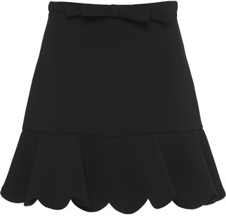 Miu Miu Faille Cady Scalloped Hem Skirt