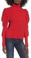Leith Women's Puff Sleeve Turtleneck Sweater