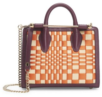 Strathberry Nano Woven Leather Tote