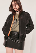 Missguided Plus Size Bomber Jacket Black