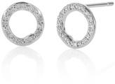 Monica Vinader Riva Diamond Circle Stud Earrings