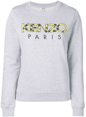 Kenzo Rose Print Logo Sweatshirt