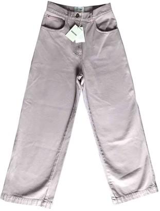 Nanushka Pink Cotton Jeans