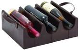 UMA Dark Brown Leather Wine Holder