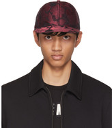 Dolce & Gabbana Red & Black Brocade Cap
