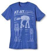 Star Wars Men's Big & Tall AT-AT T-Shirt Royal Blue
