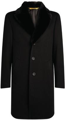 Canali Fur-Trim Cashmere Overcoat