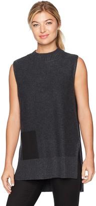 Design History Women's Faux Pocket Sweater