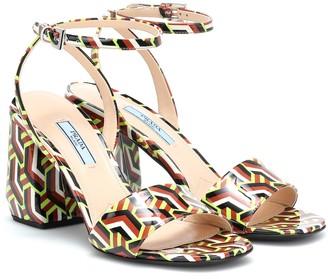 Prada Printed leather sandals