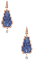 Meira T 14K Rose Gold, Soldalite & 1.09 Total Ct. Pave Diamond Earrings