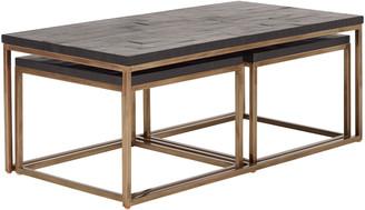OKA Emile Set of Three Nesting Tables - Ebony Walnut