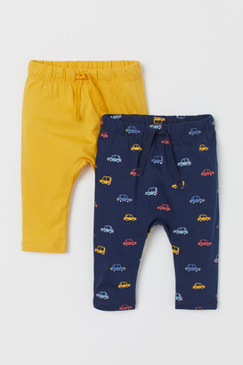 H&M 2-pack Jersey Pants - Yellow