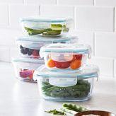 Sur La Table 10-Piece Glass Storage Container Set, Blue