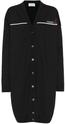 Prada Oversized stretch wool cardigan
