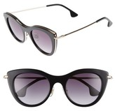 Alice + Olivia Women's Gansevoort 48Mm Special Fit Cat Eye Sunglasses - Black
