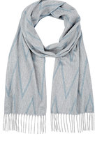 Colombo MEN'S CHEVRON CASHMERE SCARF