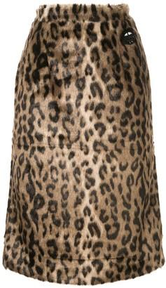 Markus Lupfer Leopard Print Skirt