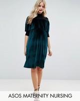 ASOS Maternity - Nursing ASOS Maternity NURSING Velvet High Neck Mini Dress