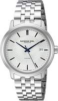 Raymond Weil Men's 'Maestro' Swiss Stainless Steel Automatic Watch, Color:-Toned (Model: 2237-ST-65001)