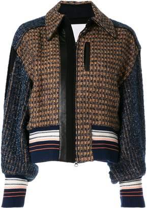 Mame Kurogouchi tweed bomber jacket