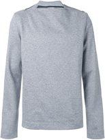 Juun.J zip detail sweatshirt - men - Cotton/Acrylic/Polyester/Wool - 48