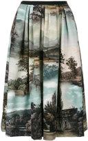 Antonio Marras Landscape pleated midi skirt - women - Cotton/Polyester/Spandex/Elastane/Acetate - 42