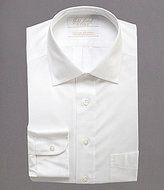 Roundtree & Yorke Gold Label Non-Iron Solid Fitted Classic-Fit Spread-Collar Dress Shirt