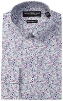 Nick Graham Long Sleeve Modern Fit Paisley Dress Shirt