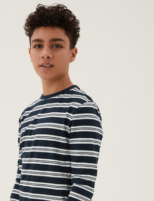 Marks and Spencer Cotton Striped Top (6-16 Yrs)