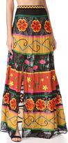 Alice + Olivia Athena Embroidered Maxi Skirt