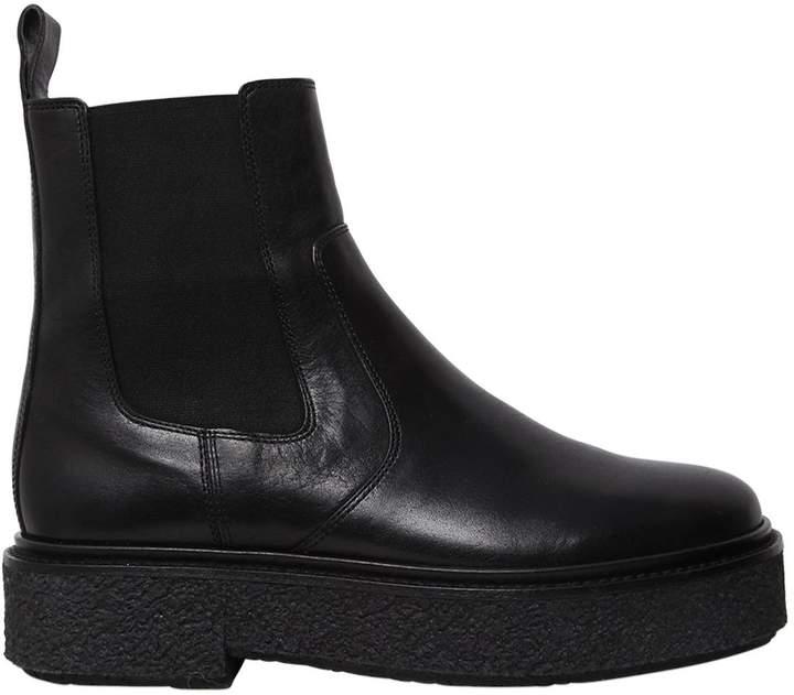 Isabel Marant 30mm Celton Platform Leather Ankle Boots