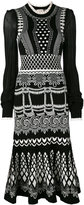 Temperley London 'Silvermist' jacquard knit midi dress - women - Nylon/Viscose - XS