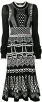 Temperley London Silvermist jacquard knit midi dress