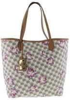 Lauren Ralph Lauren Womens Dalia Leather Floral Print Tote Handbag