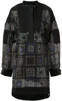 Sacai oversized printed dress - women - Cotton/Nylon/Polyester - 2
