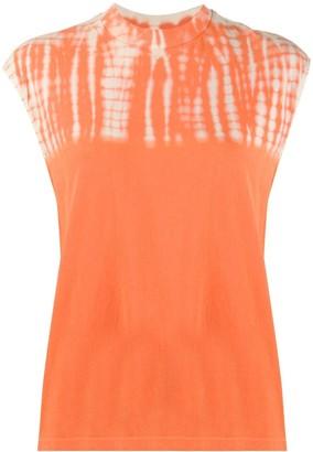 Raquel Allegra Tie-Dye Muscle T-shirt